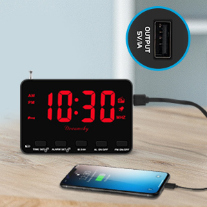 clock radio with usb charger