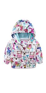 Girl Windbreaker Hooded Jacket