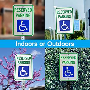 Handicap Parking Sign, Reserved Parking Sign