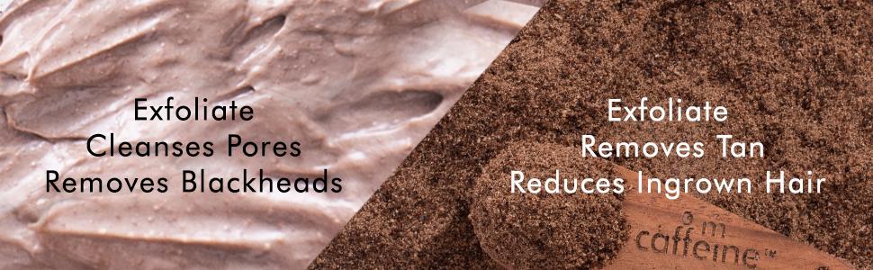 coffee face scrub exfoliates removes blackheads cleanses pores exfoliate removes tan reduces ingrown