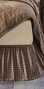 Prescott Bedskirt primitive country rustic Americana VHC Brands bedding throw quilt pillow sham