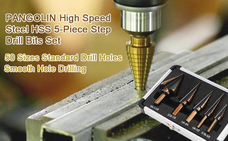 Step Drill Bit Set