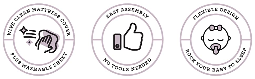 easy assembly - no tools
