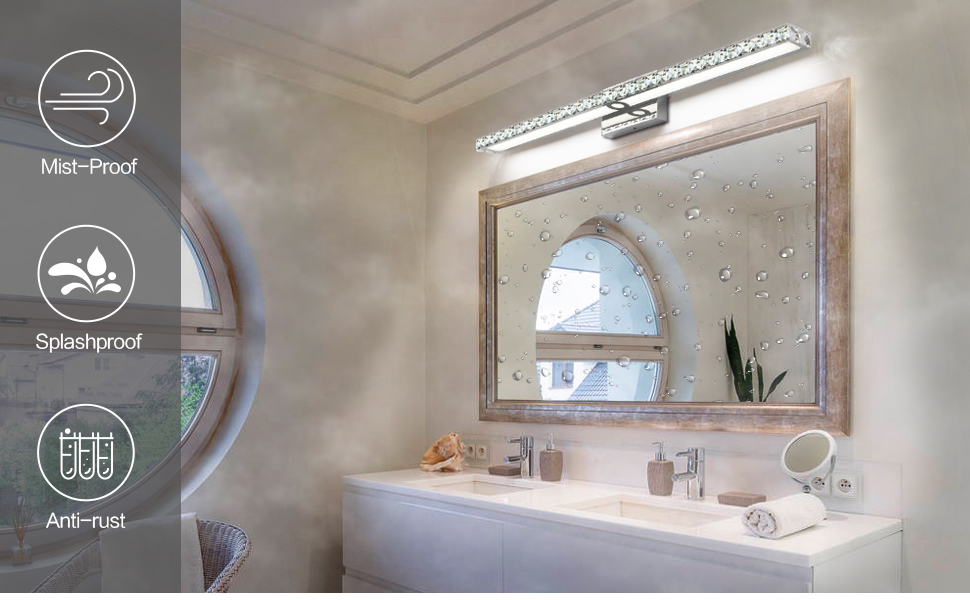 Solfart Crystal 40 Inches Long Bathroom Vanity Lights Fixtures Over Mirror Wall Lights Amazon Com