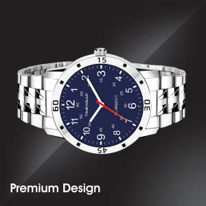 TIMEWEAR Analog Blue Number Dial Stainless Steel Strap Watch for Men -SPN-FOR1P Prime Day Submission