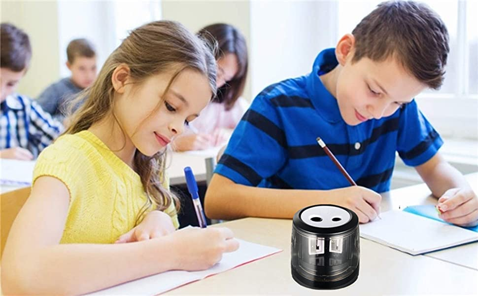 Pencil Sharpener Bonus: Electric Eraser School Office Electric Pencil Sharpener Small Electric USB or Battery Operated Pencil Sharpener for No.2 and Colored Pencil Kids Friendly at Home