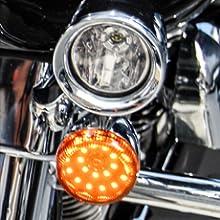 Amber LED running lights