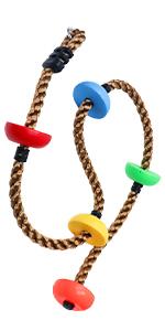 ninja rope climbing