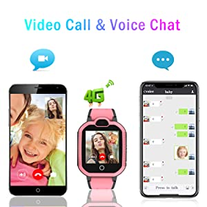 kids watch wifi video call voice chat  GPS tracker baby gift  students cell phone mobile for boys