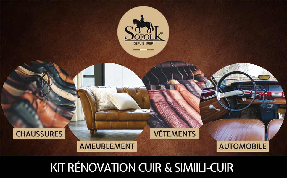 kit rénovation cuir, simili, similicuir, skai