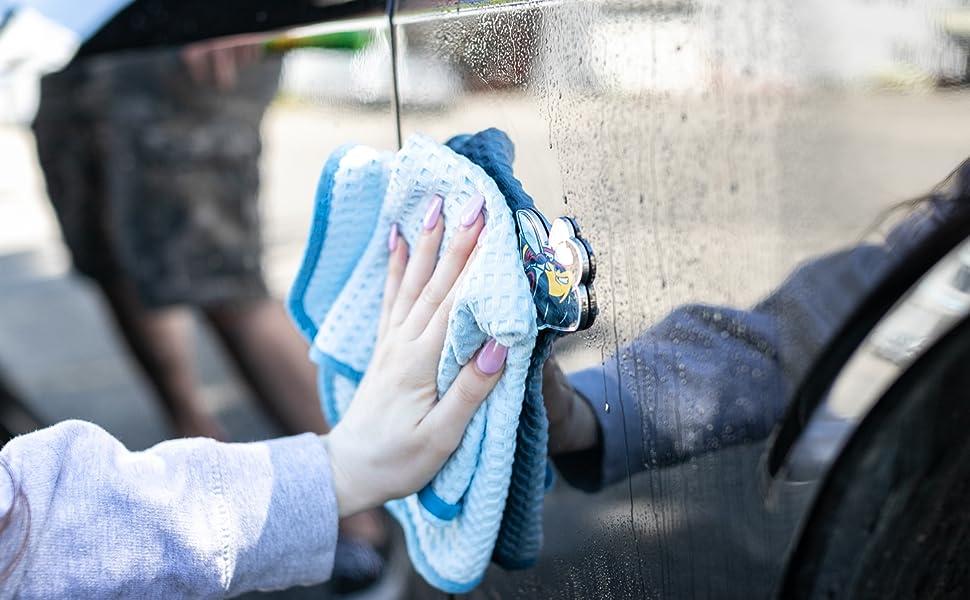 The Rag Company TRC Microfiber Dry Me A River Waffle Weave Drying Towel Cloth Rag Auto Detailing