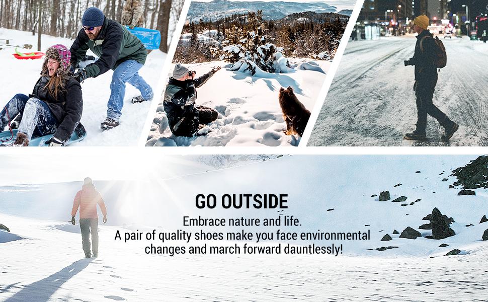 mens winter work waterproof snow boots