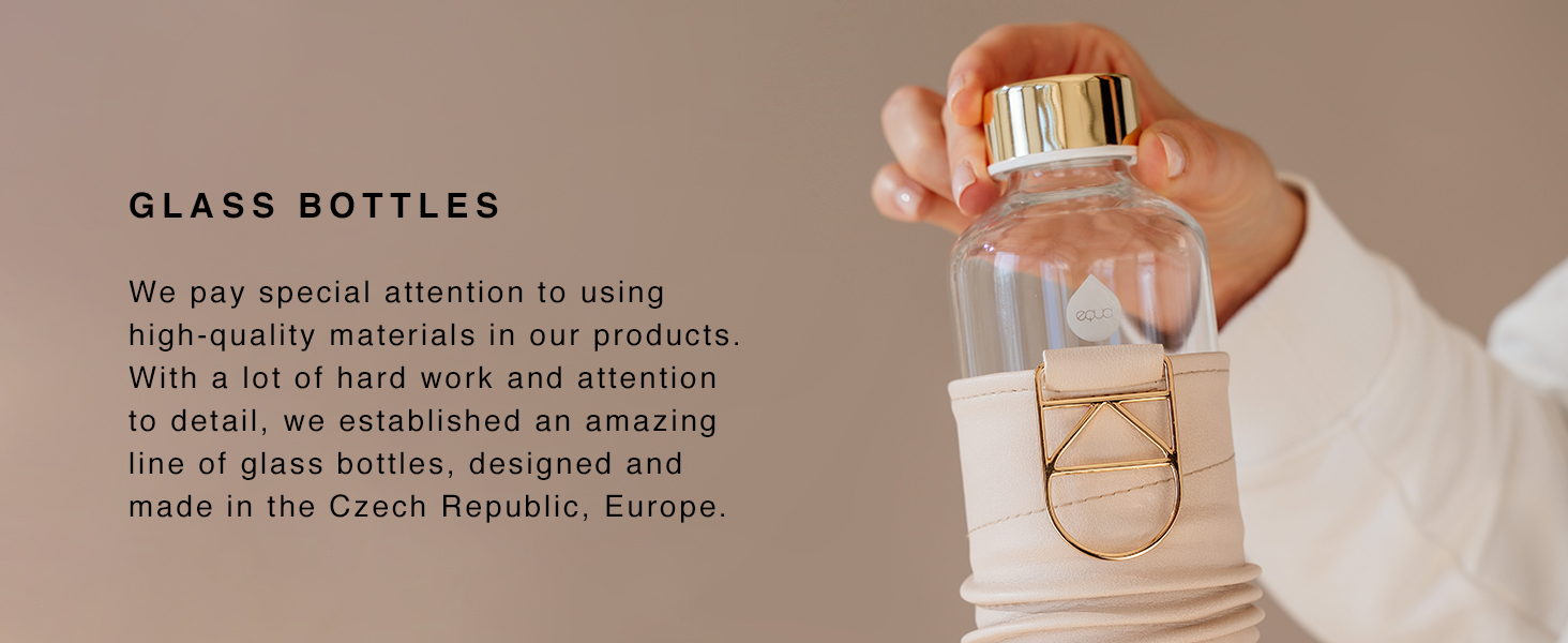 equa glass bottles