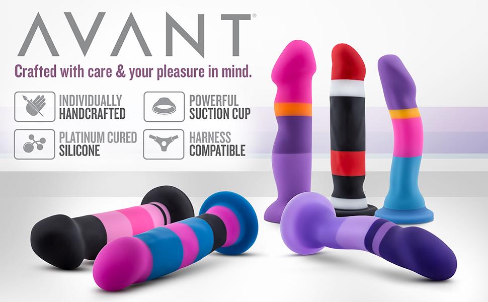 blush novelties avant dildo strap on harness compatible suction cup