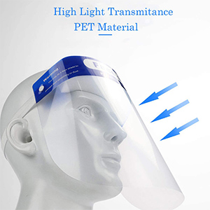 10 Safety Full Face Shield Reusable Protection Cover Face Eye Cashier Helmet !