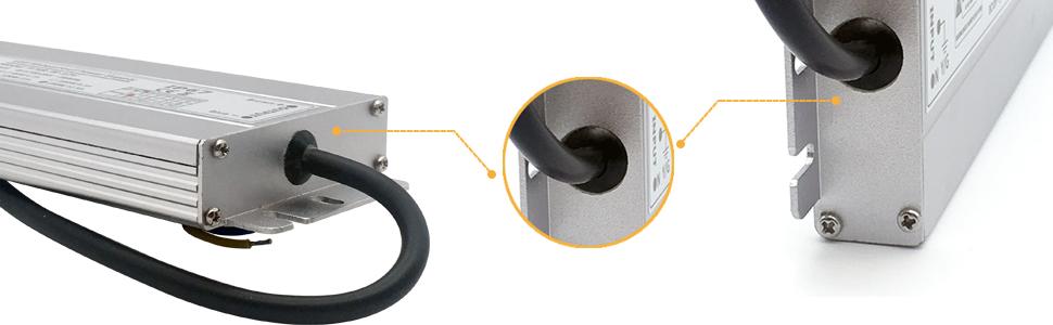 Adaptador interior baja tensión prueba agua fuente alimentación conmutación transformador conductor