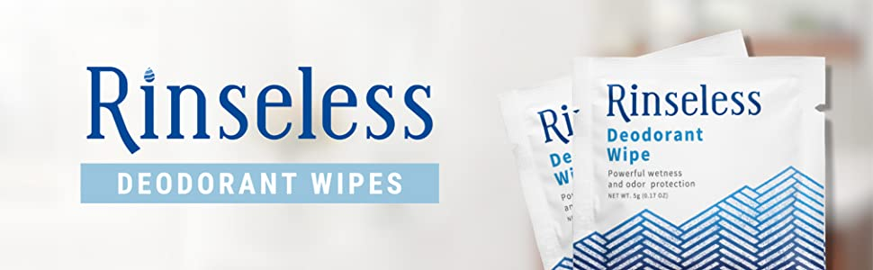 Rinseless Deodorant Wipes Nursing Nurses Home Travel Elderly Convenient