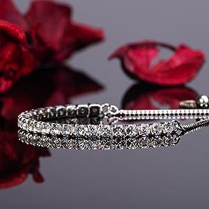 slider bracelet slider bracelets tennis cubic zirconia adjustable silver bracelets pandora bracelets