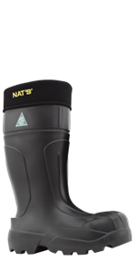 Nat's boots waterproof steel toe boots for men csa work boots insulated steel toe rubber boots