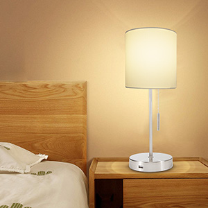 Mua DEEPLITE Small Table Lamp, Bedside Lamp with USB Port, Simple Designed Modern Lamps for Bedrooms Living Room Office Nightstand SideEnd Table,
