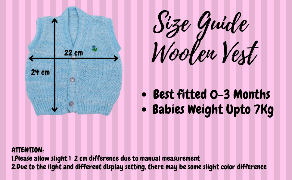 Baby Vest Size Guide