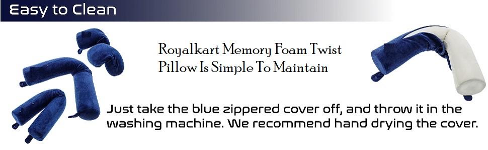 memory foam twist travel neck pillow