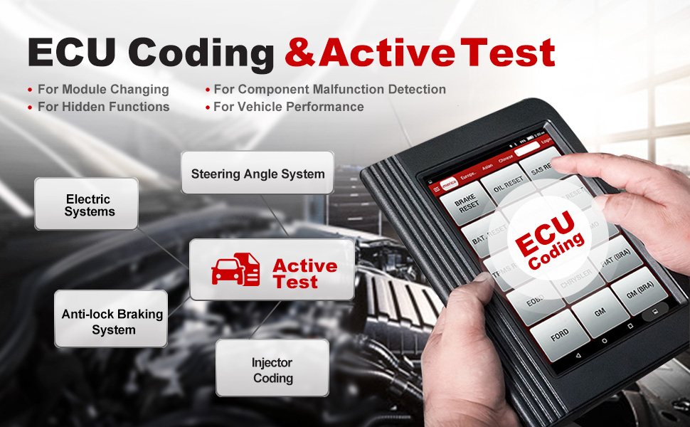 launch x431 v+ pro v scan tool diagnostic scanner active test ecu coding abs bleeding oil reset