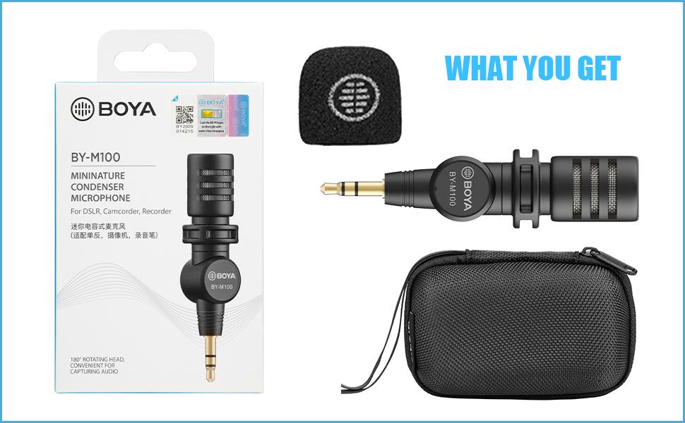 BOYA Mini Omnidirctional 3.5mm TRS Condenser Microphone