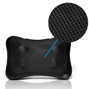 Le coussin de massage est en cuir et tissu fin 3D respirant.