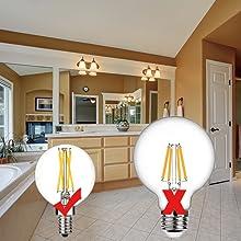 Dimmable G16 5 Led Bulb E12 G16 1 2 Led Candelabra Bulb