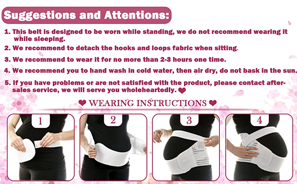 SIZE Abdomen Support Belly Band | Fully Adjustable Throughout Pregnancy