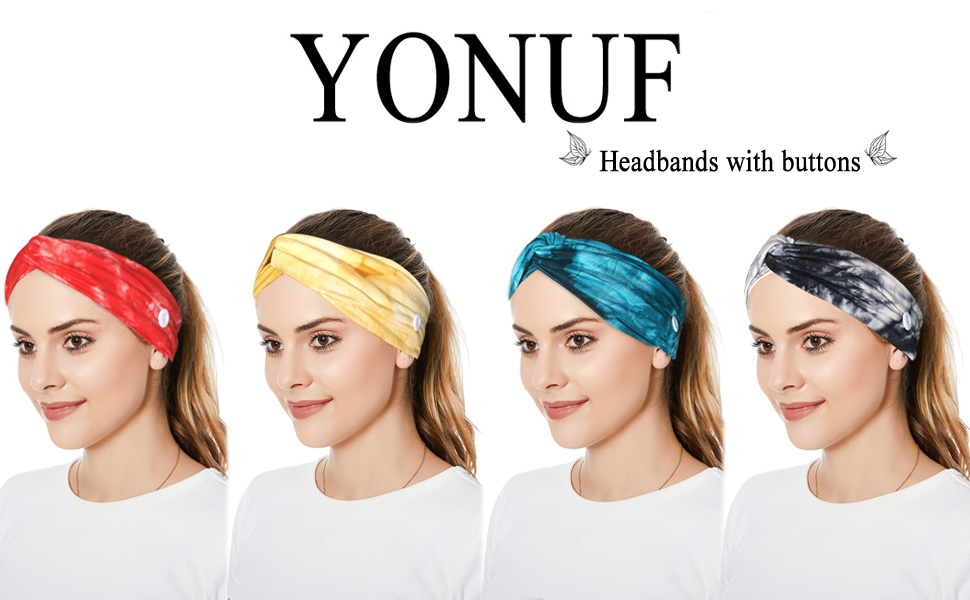 headbands with buttons