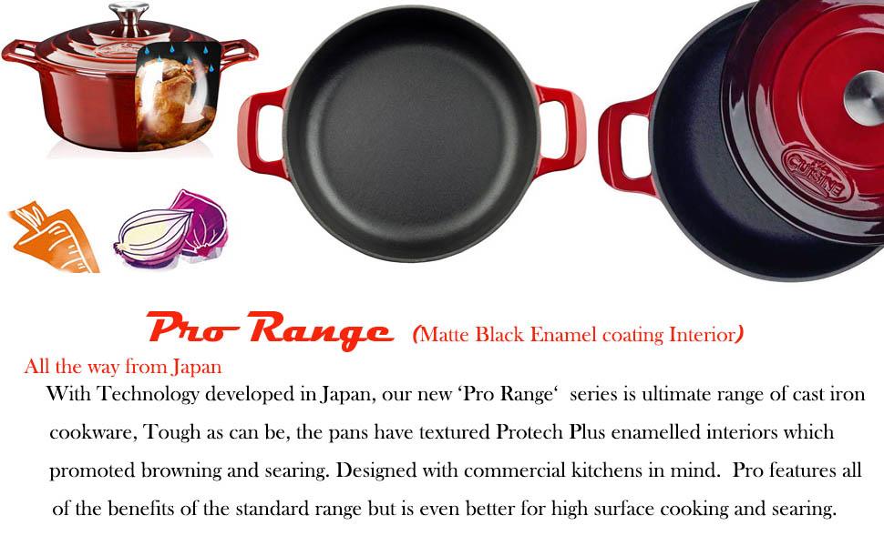 Pro Range -Matt Black Enamel coating Interior