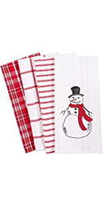 Amazon Com Kaf Home Pantry Kitchen Holiday Dish Towel Set Of 4 100 Percent Cotton 18 X 28 Inch Candy Cane Mints Home Kitchen