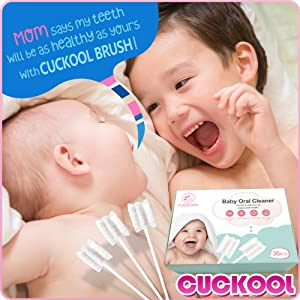 baby oral - Baby Toothbrush, Infant Toothbrush Clean Baby Gums Disposable Tongue Cleaner Gauze Toothbrush Infant Oral Cleaning Stick Dental Care For 0-36 Month Baby