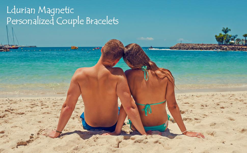 Ldurian Magnetic Personalized Couple Bracelets