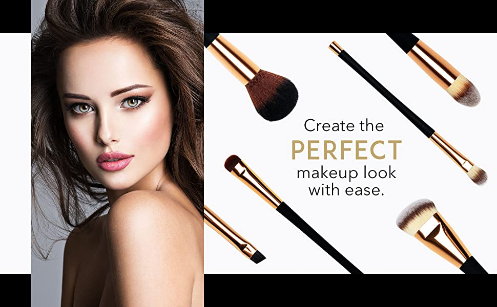 Aria professional makeup brushes set