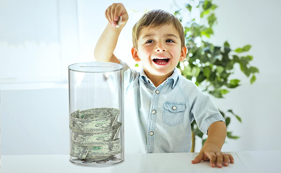 Acrylic Saving Money Jar