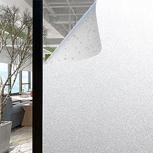 AOKKR Vinilo para Cristal Ventana, vinilos Decorativos Privacidad Pegatina Translúcida Adhesiva Decorativa del Vidrio Autoadhesiva,sin Dejar residuos, Ventana Esmerilada 90 * 200cm: Amazon.es: Hogar