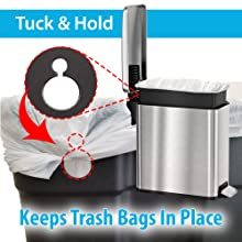 Stainless steel simple human trash bin garbage can best office waste office home recycle