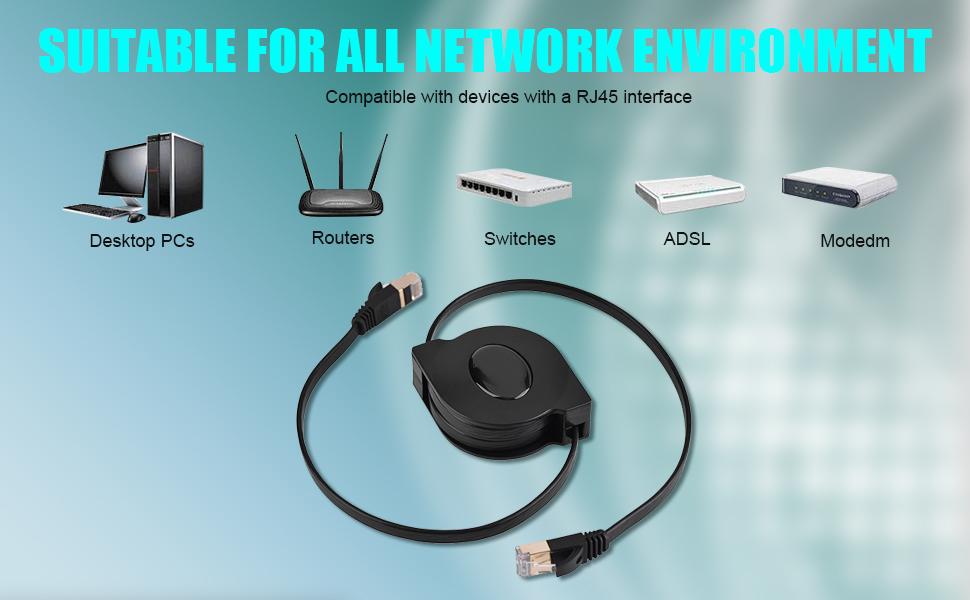 Zerone 1 5 Meter Einziehbar Cat7 Rj45 Lan Ethernet Kabel Flexibles Netzwerkkabel Netzwerk Verlängerungs Kabel Für Pc Laptop Macbook Computer Auto