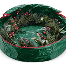 Water Resistant Christmas Wreath Storage Container 30/'/' Green