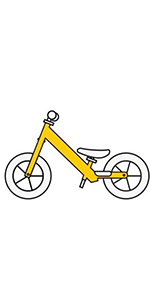 Size chart graphic for the Strider Balance Bike 12 Classic