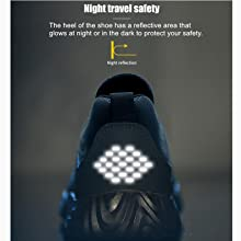 Safety shoes reflective zone