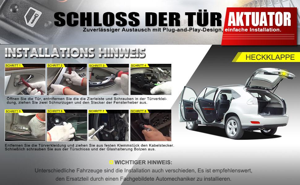 Türschloss Stellmotor Fahrzeugheckklappe 3 Polig Kompatibel Für A4 A5 A6 A8 Eos J E T T A Iii P A S S A T 2002 2017 4f5827505d Auto