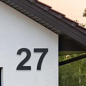Metzler huisnummers roestvrij staal huisnummer v2a v4a huisnummer gemaakt van roestvrij staal