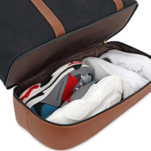 weekender bag with shoe pocket