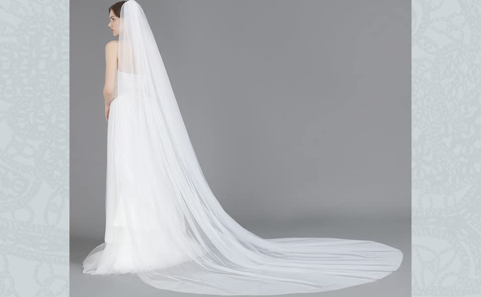 wedding veil with comb