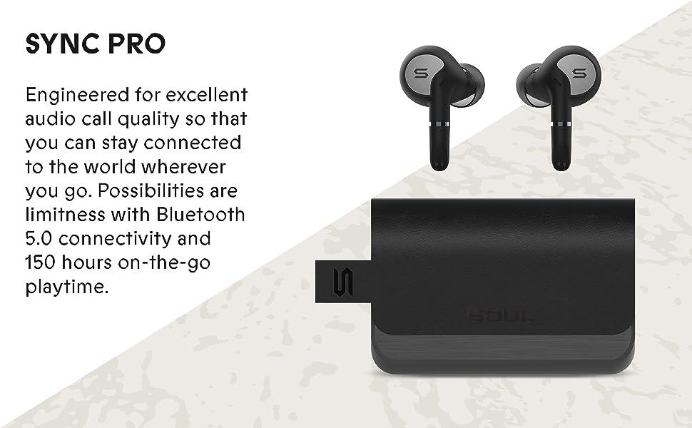 Sync Pro, headphones, audio call, high quality, music, bluetooth 5.0, powerbank, earbuds, soul,