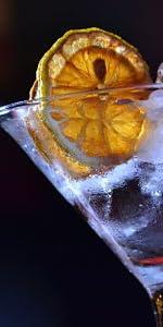 Naranja deshidratada para cóctel. Fruta deshidratada sin ...